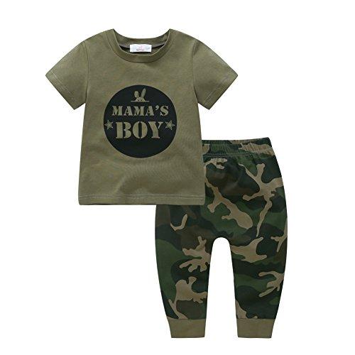 Shiningup Shiningup Baby-Pyjama-Set Boy Girl Camouflage Kleidung Set Mama's Boy Mama Mädchen Mode Outfit für 6 Monate bis 4 Jahre alt