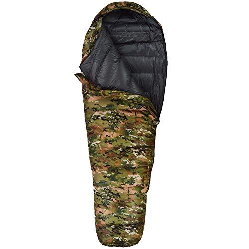 WLIXZ Sac De Couchage Camping en Coton, Style Enveloppe, Armée, Militaire Ou Camouflage, Sac Respiratoire Léger pour Maman,Desert,1.2Kg