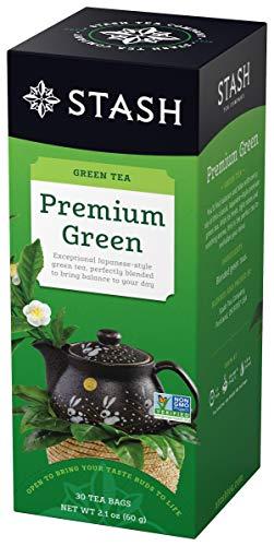 Stash Tea Premium Green Tea 30 Count Box of Tea Bags in Foil (Pack of 6)