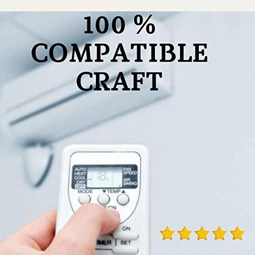 CRAFFT - Mando Aire Acondicionado CRAFFT - Mando a Distancia Compatible 100% con Aire Acondicionado CRAFFT. Entrega en 24-48 Horas. CRAFFT