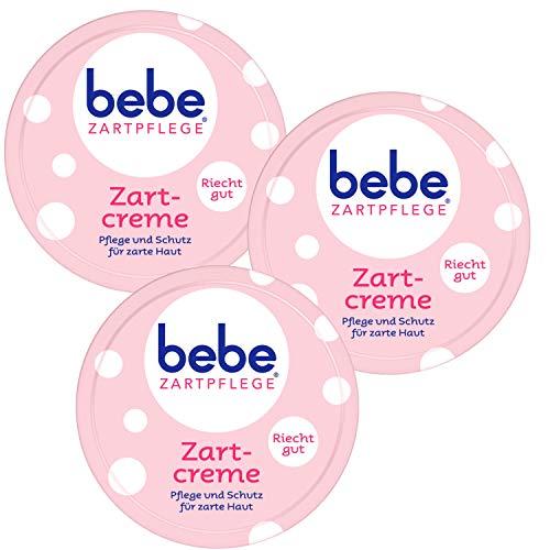 3x 150 ml bebe Zartpflege Zartcreme Pflege & Schutz für zarte Haut angenehmer Duft (3er Pack)