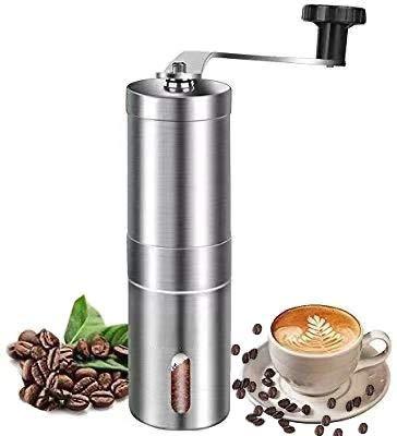 MEIJUBOL Handmatige koffiemolen Roestvrij staal Premium Burr koffiemolen met verstelbare instelling Conische Burr Molen voor Aeropress, Druppelkoffie, Espresso, Franse pers