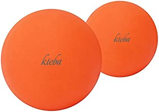 Kieba Massage Lacrosse Balls for Myofascial Release, Trigger Point Therapy, Muscle Knots, and Yoga Therapy. Set of 2 Firm Balls (2 Orange)
