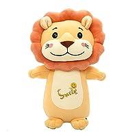 クリエイティブライオンぬいぐるみホームデコレーション枕かわいいライオン人形人形人形ギフト用女の子 (Color : A, Size : 28cm)