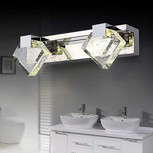 NA hoofdbadkamerspiegel-koplamp-eenvoudige moderne kristallen spiegel-voorste heldere spiegel voorste wand-lampen badkamer-bereider-make-up spiegel-lamp inbegrepen, spiegen