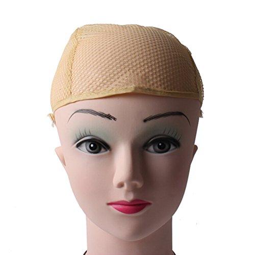 Pixnor Perruque caches Beige en nylon Unisexe Perruque Bonnet stretch Chaussette Liner Snood en maille