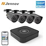 Expandable Home <span class='highlight'>Security</span> <span class='highlight'>Camera</span> <span class='highlight'>System</span> Outdoor, Jennov 8 Channels 5-<span class='highlight'>in</span>-1 DVR Recorder Kit 1080P 4pcs Bullet CCTV IP <span class='highlight'>Camera</span> Day/Night Vision Weatherproof Motion Detect APP & Email Alert