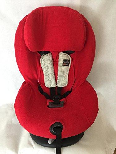 Sommerbezug Schonbezug Frottee für HTS Besafe iZi Comfort X3 Combi X4 Kid X2 Plus Frottee 100% Baumwolle rot