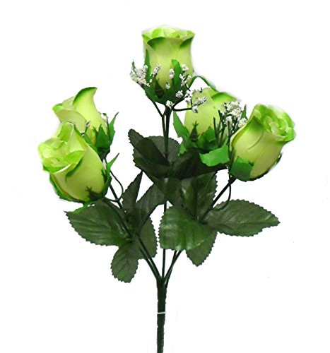 Ella And Lulu Dessignella And Lulu Dessign 12 M P Rose Bud X 5 Home Interior Outdoor Indoor Window Centerpiece Welcome Wedding Party Special Event Decoration Bush One Size Seafoam Dailymail