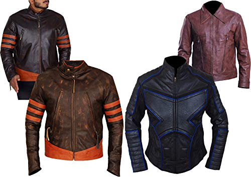 Western Fashions Logan Jackman Hugh X-Men United Origins Wolverine echte Lederjacke-l