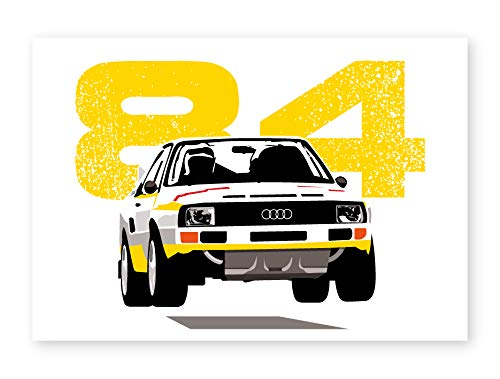 S1 Sport Gruppo B Rally Car Poster Con Cornice Stampa Home Decor Wall Art Man Cave A3 Frameless