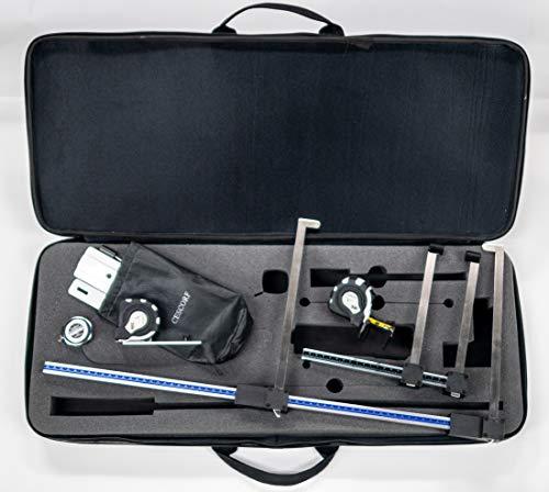 Cescorf Antropometer lang en kort, talmeter, meetlint, snelheidsmeter, koffer