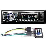 WEPARTICULAR Autoradio 12V / 24V Radio de camión Bluetooth 1 DIN Reproductor estéreo de Coche AUX Interfaz ISO MP3 FM/USB/Radio con Control Remoto