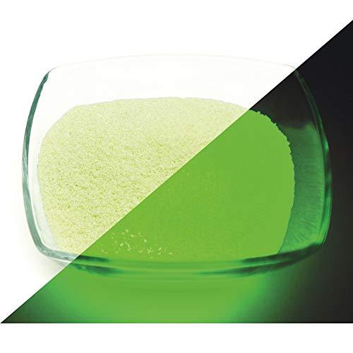 lumentics Premium Nachleuchtsand/Glühgranulat - Im Dunkeln leuchtende Farbkörnchen, nachleuchtende Farbkörner, Farbgranulate, Leuchtdekor, Leuchtsteine (ca. 0.5mm) (100g, Grün)