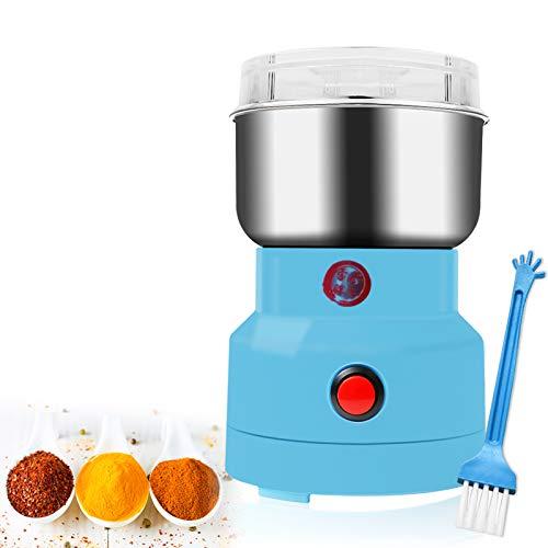 Multifunktions-Smash-Maschine, Elektrische Mühle 150W für Getreidekaffeebohnengewürze Lebensmittelmuttern - Gewürz und Kaffeemühle(Blau)