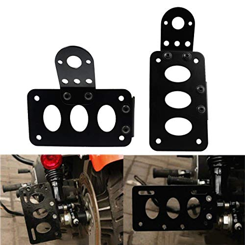 OTOW Steel License Plate Holder Bracket and Light Mount for Trailers Trucks Cars