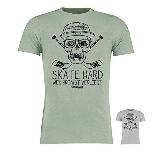 Scallywag® Eishockey T-Shirt Hockey Skate Hard I Größen XS - 3XL I A BRAYCE® Collaboration (Eishockey Ausrüstung) (3XL, Hellgrau)