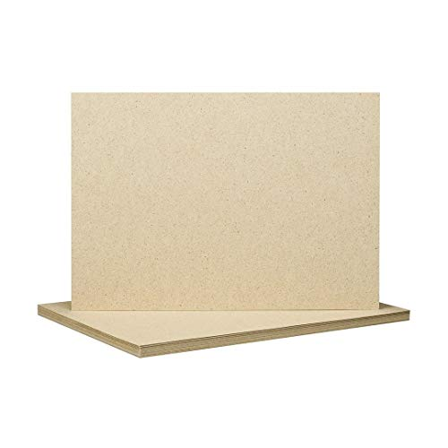 A4 Graspapier, 90 g/m², 210 x 297 mm, naturfarben, Druckerpapier, Briefpapier, Schreibpapier, Bastelpapier - 100 Blatt/Pack