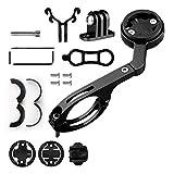 WERTAZ Soporte frontal de aleación de aluminio para bicicleta para Garmin Edge 200 500 510 520 800 810 820 1000 1030 y cámara de acción deportiva