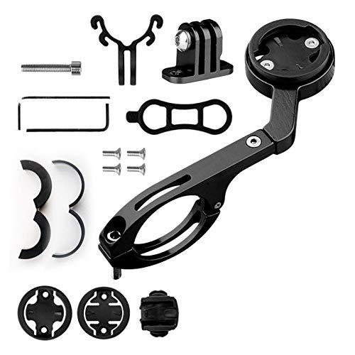 WERTAZ Fahrradhalterung aus Aluminiumlegierung vorne , Kombination aus Lenkerhalterung für Fahrradcomputer für Garmin Edge 200 500 510 520 800 810 820 1000 1030 und Sport-Action-Kamera