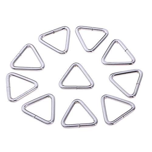 perfeclan Hebillas Deslizantes de Metal de Hierro 10pcs Correas de Mochila Correas para Bolsa de Maleta - tal como se describe, 25mm