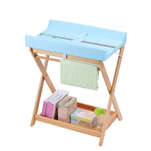Klappbarer Wickeltisch für kleine Räume, Wickelkommode für Kleinkinder für Jungen, Blau