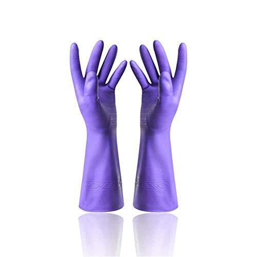 Diamanstar Gants en Silicone -2 Paires de Gants ménagers, Gants de Nettoyage imperméables durables, Nettoyage du Linge, A