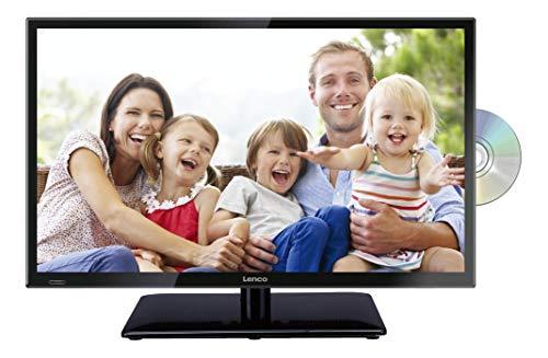 Lenco DVL-240 23,5 Zoll (60cm) LED-Fernseher mit DVD-Player - Triple-Tuner (DVB-T/T2/S2/C) - 12 Volt Kfz-Adapter - Mit HDMI, USB SCART und Cl+ Anschluss - Fernbedienung - Schwarz