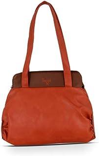 Baggit Women's Synthetic Tote Bag (Orange) (Cartoon Y G Z)