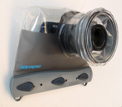 Aquapac wasserdichte-tauchbare Tasche Für System Kamera, Grau-Transparent, 12 x 15.5 x 16 cm