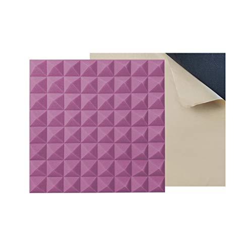 ZZYE Akoestische panelen met hoge dichtheid, akoestische thuisstudio geluiddichte behandeling, lijm geschikt voor opnamestudio, hotel/10 stuks