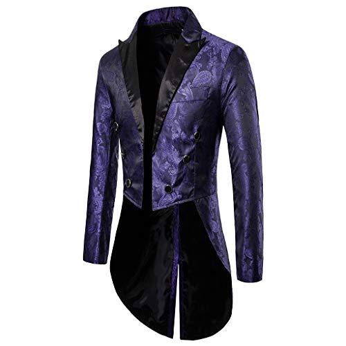 KPILP Sakkos Men's Anzugjacken Tuxedo Fashion for Party Handsome Oberteile Charm Casual One Button Fit Suit Blazer Coat Jacket Autumn Winter