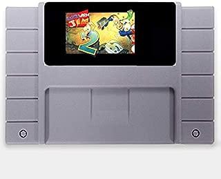 16 Bit 46 Pin Game Cartridge - Earthworm Jim 2 English Language 16 Bit Big Gray Game Card