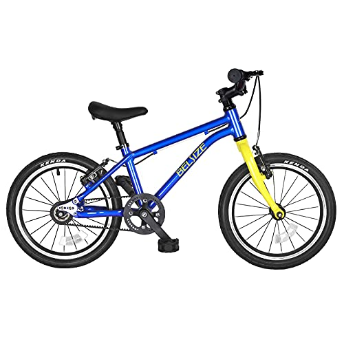 BELSIZE 16-Inch Belt-Drive Kid's Bike - for Ages 3-7, Lightweight 12.57 lbs, Fully Assemble in 5 Minutes - Blue