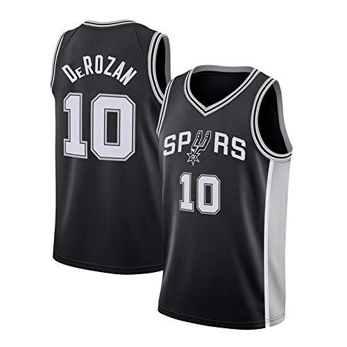 PQMW 10# DeRozan Spurs Herren Basketball Trikot Fans Edition Heißgepresste Version Sweatshirt Sport Trainingsanzug T-Shirts Schnelltrocknend (S-2XL) Gr. S, Schwarz