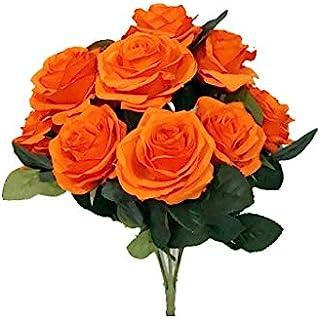 Sweet Home Deco 18'' Princess Diana Rose Silk Artificial Flower Valentine's Day (10 Stems/10...