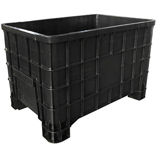 Cassa pallet in plastica (HDPE 100 % riciclato) 4 piedi, Mis. 1000 L x 635 P x 645 H mm, capacità 300 Lt, portata 150 Kg (Polietilene Alta Densità (HDPE) 100% Riciclato (PCR))
