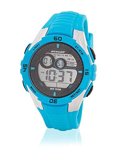 Dunlop Reloj Digital para Unisex Adultos de Cuarzo con Correa en Caucho DUN233G04