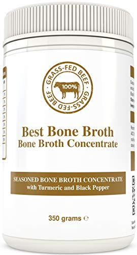 Bone Broth Premium Beef Bone Broth Concentrate Turmeric Flavor - Maximized Nutrition Bone Broth On The Go - No Hormones or Additives, Delicious Natural Flavor, Sourced from AU & NZ Beef - Beef Broth