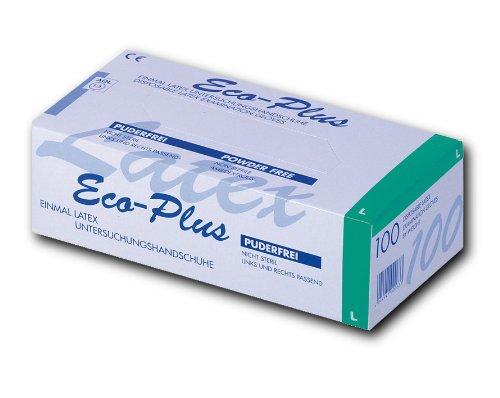 Eco-Plus Latex Einweghandschuhe, ungepudert, Gr. L