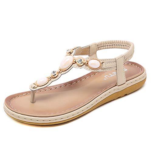 KRILY - Zapatos Platform Sandal Women de piel sintética de poliuretano, corrector,...
