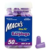 Mack's Slim Fit Soft Foam Earplugs, 50 Pair - Small Ear Plugs for...