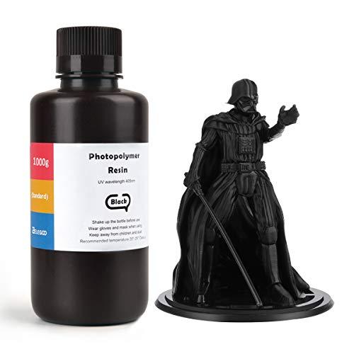 ELEGOO LCD UV 405nm Resina Rapida per Stampante 3D LCD 1000g Resina Fotopolimerica Nero