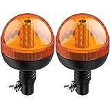 Justech 2 X Luce Lampeggiante Stroboscopica 40LED 12V/24V Impermeabile con 3 Modalità Illuminazione...