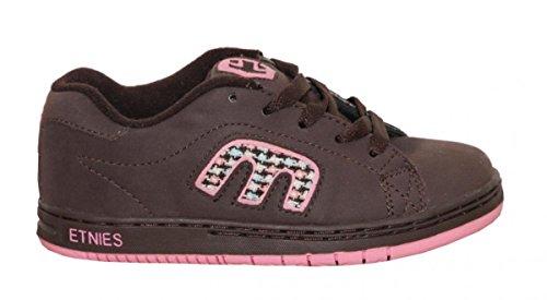 Etnies Skateboard Kids Schuhe Callicut Brown/Pink, Schuhgrösse:33