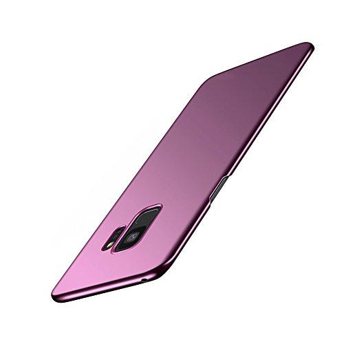"""Bakicey Samsung Galaxy S9 Hülle, Dünn Leicht Hart PC Schutzhülle Case Cover Bumper [Kabelloses Aufladen Unterstützung] Anti-Scratch Hardcase Handyhülle für Samsung Galaxy S9 (5.8\"""") (Lila)"""