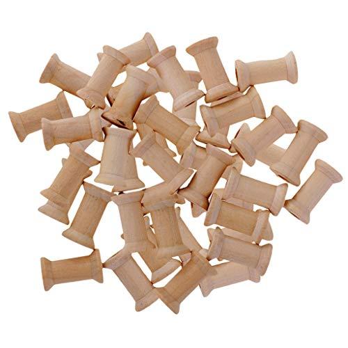 50 Stück Vintage Mini Holzspule Set Holzrolle Dekospule Spule Garnspule Garnrolle