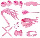 tyufgt6u Leather Exercise Harness Sports Kit of 10pcs ??d?g ?D?M? ?nkl h??dc?ff ?l?v C?ff Cll?r Ch?in Whp Soft Str?p Rs?rain?-Pink