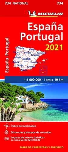 Mapa National España - Portugal 2021 (Mapas National Michelin)