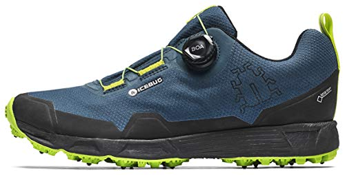multi purpose icebug running shoes Icebug Men's Rover BUGrip GTX Trail Running Carbide Sole Shoes, Nightsky / Poison, 10.5